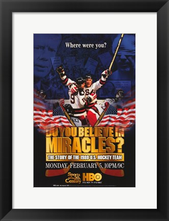 Framed Do You Believe in Miracles  The Story of the 1980 U.S. Hockey Team Print