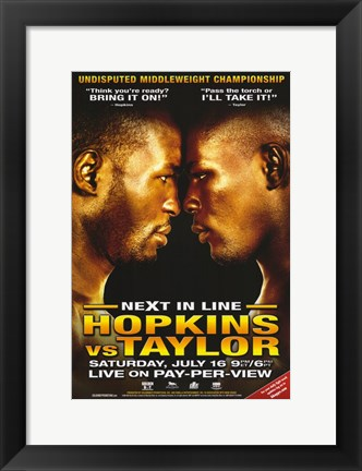 Framed Bernard Hopkins vs. Jermain Taylor Print