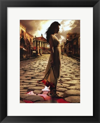 Framed Rome Bloody Streets Print