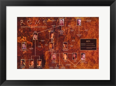 Framed Rome TV Family Tree Print