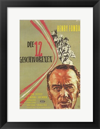 Framed 12 Angry Men - German Print