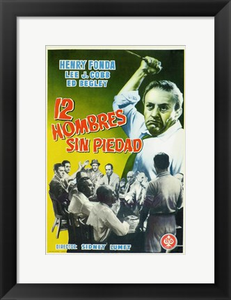 Framed 12 Angry Men - Spanish Print
