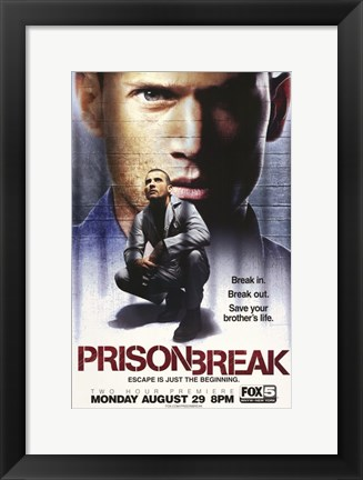 Framed Prison Break (TV) Dominic Purcell as Lincoln Burrows Print