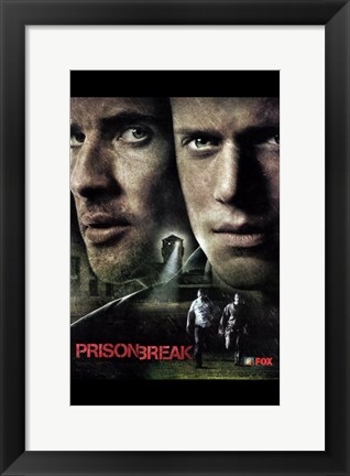 Framed Prison Break (TV) Search Tower Print