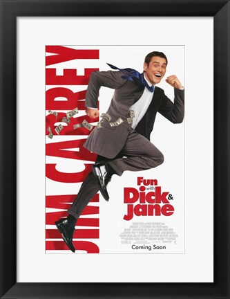 Framed Fun with Dick and Jane Carrey Print