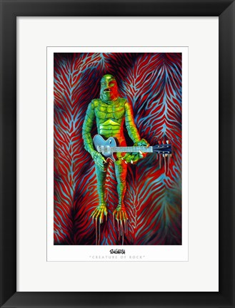 Framed Creature of Rock Print