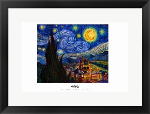 Framed Muslim Stary Night Print