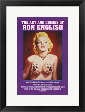 Framed Art and Crimes of Ron English (book cover) Print