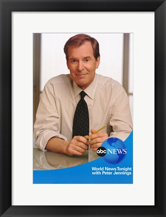 Framed ABC News with Peter Jennings Print