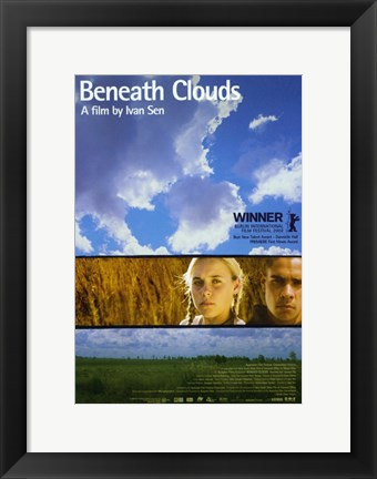 Framed Beneath Clouds Print