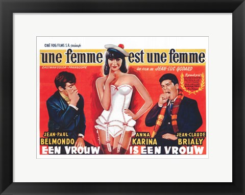 Framed Woman Is a Woman Print