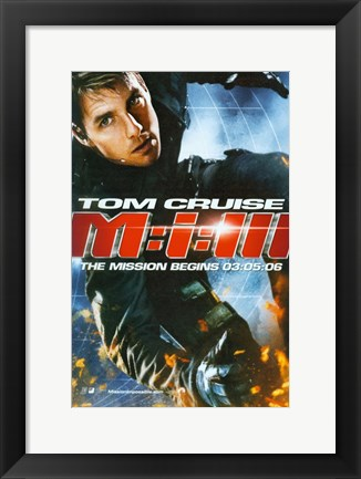Framed Mission: Impossible III - Tom Cruise Print