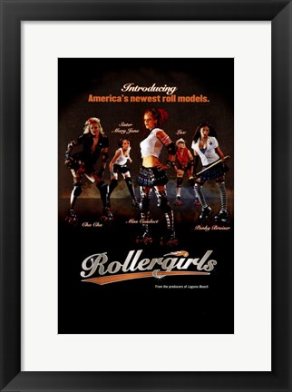 Framed Rollergirls Print