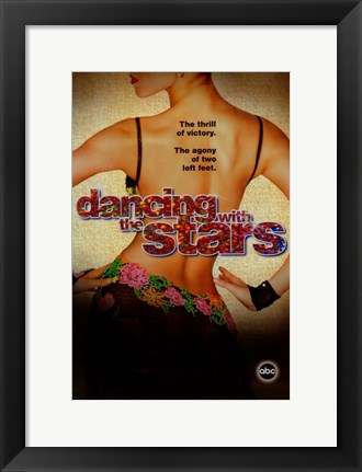 Framed Dancing with the Stars Thrill of Victory Print