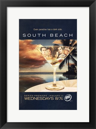 Framed South Beach Print