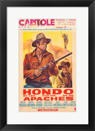 Framed Hondo and the Apaches Print
