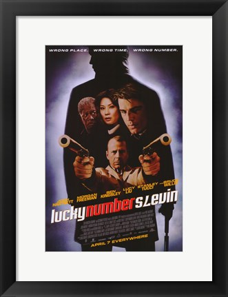 Framed Lucky Number Slevin Print