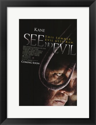 Framed See No Evil Print