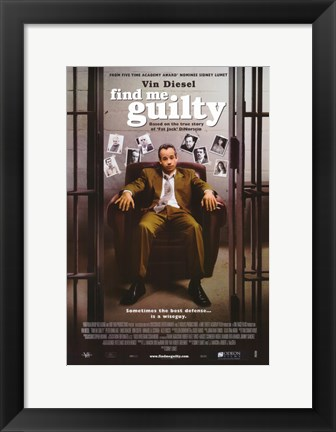 Framed Find Me Guilty Print