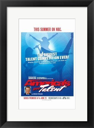 Framed America's Got Talent Print