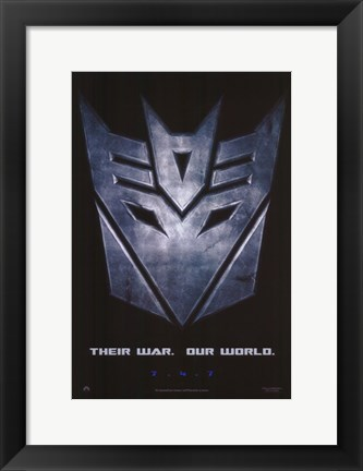 Framed Transformers - style C Print