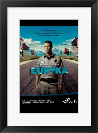 Framed Eureka (TV) Colin Ferguson Print