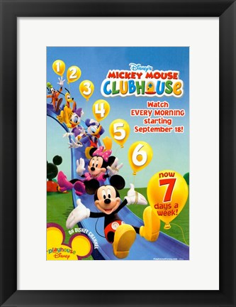 Framed Mickey Mouse Clubhouse Print