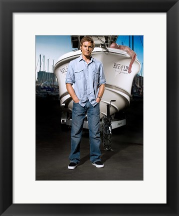 Framed Dexter with Boat Print