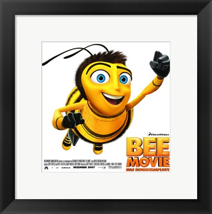 Framed Bee Movie Close Up Print