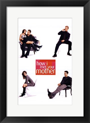 Framed How I Met Your Mother - Sitting Print