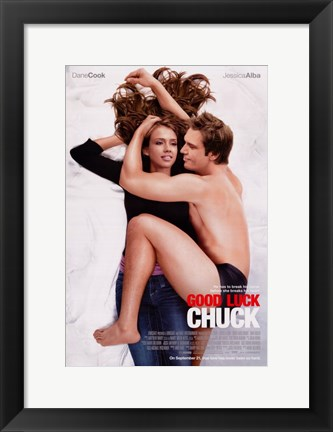 Framed Good Luck Chuck - couple Print