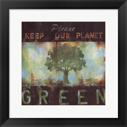 Framed Green Planet Print