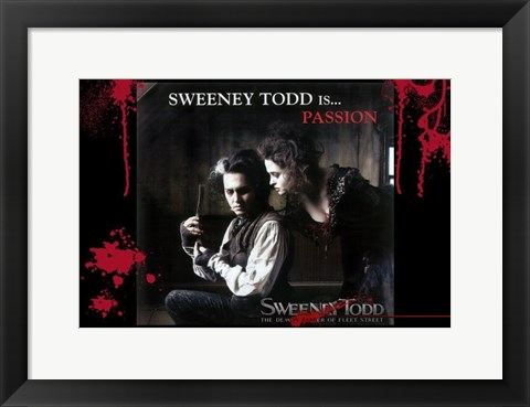 Framed Sweeney Todd is Passion Print