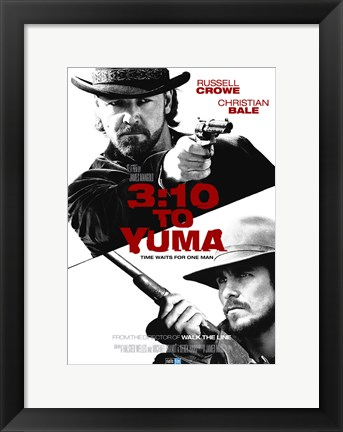 Framed 3:10 to Yuma Black and White Print