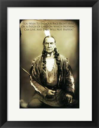 Framed Bury My Heart at Wounded Knee - native american Print