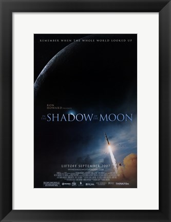 Framed In the Shadow of the Moon Print