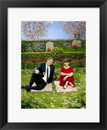 Framed Pushing Daisies Charolette and Ned on Blanket Print