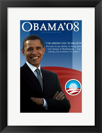 Framed Barack Obama - I'm Asking You Print