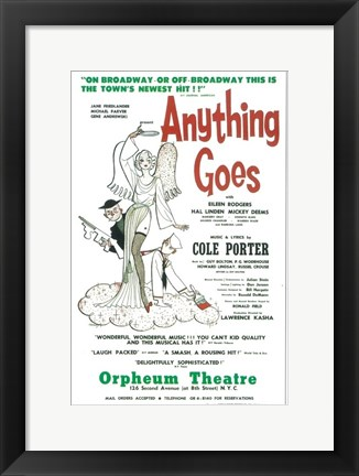 Framed Anything Goes (Broadway) Print