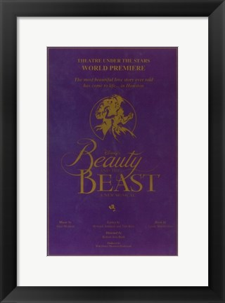 Framed Beauty and The Beast (Broadway) Print