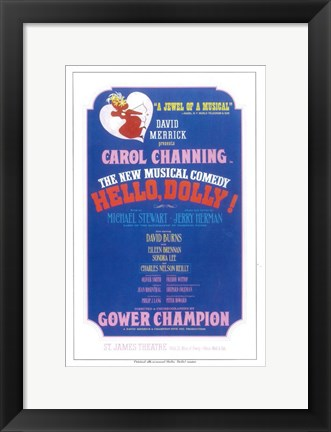 Framed Hello Dolly (Broadway) Print