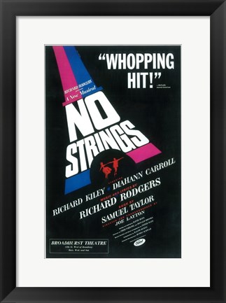 Framed No Strings (Broadway) Print