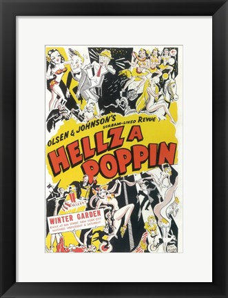 Framed Hellzapoppin (Broadway) Print