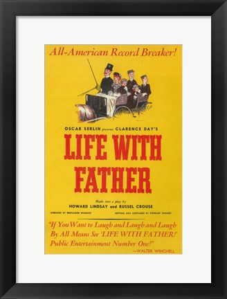 Framed Life With Father (Broadway) Print