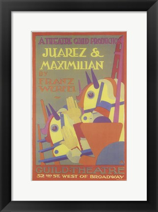 Framed Juarez And Maximilian (Broadway) Print