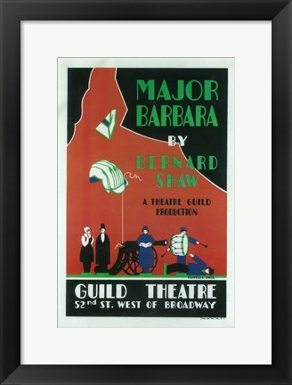 Framed Major Barbara (Broadway) Print