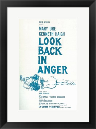 Framed Look Back In Anger (Broadway) Print
