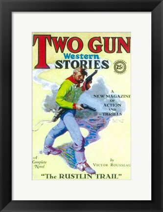Framed Two Gun Western Stories (Pulp) Print