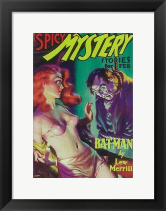 Framed Spicy Mystery Stories (Pulp) By Lew Merrill Print