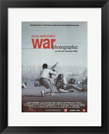 Framed War Photographer Print